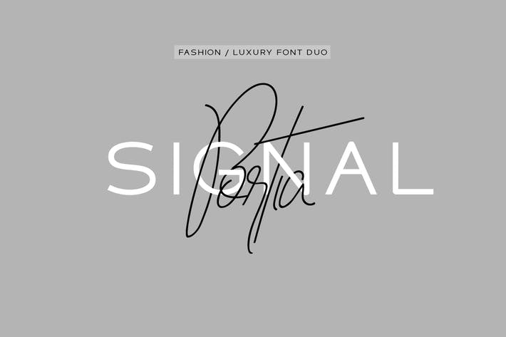 Thumbnail for Portia & Signal Duo - High Fashion / Luxury Fonts