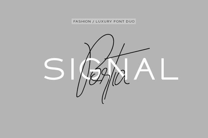 Portia & Signal Duo - Haute Fashion/Police de luxe