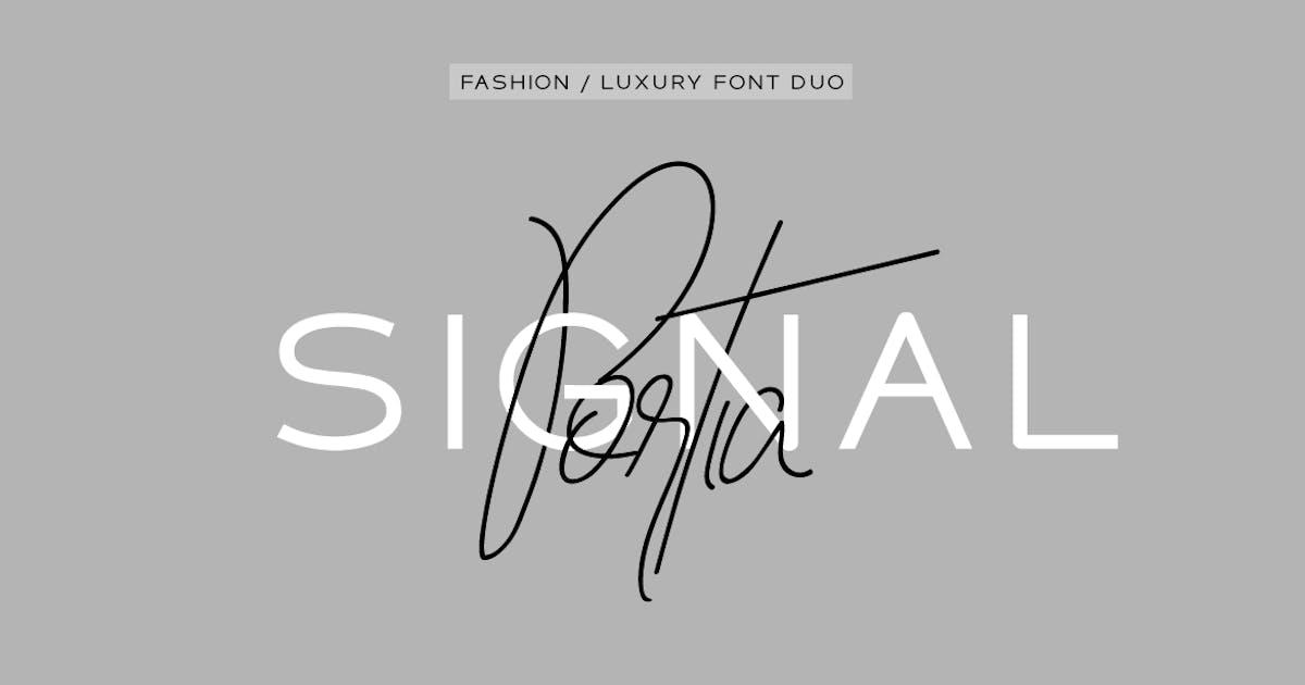 Download Portia & Signal Duo - High Fashion / Luxury Fonts by designova