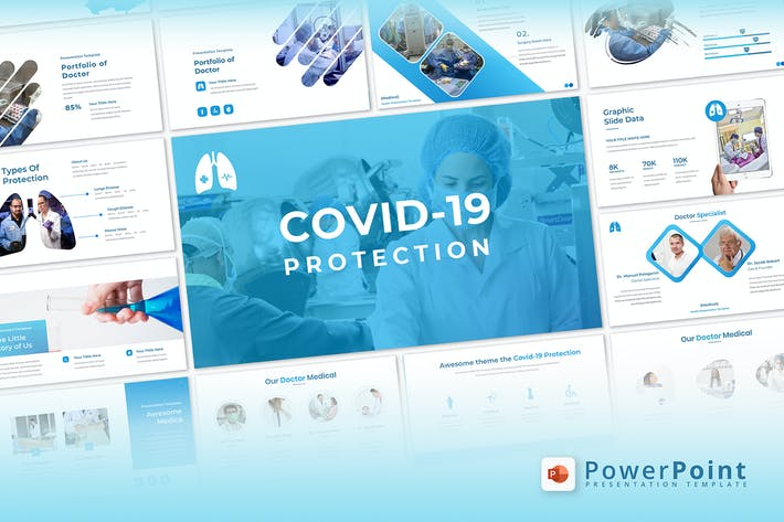 Thumbnail for Covid-19 Protection - Powerpoint Template