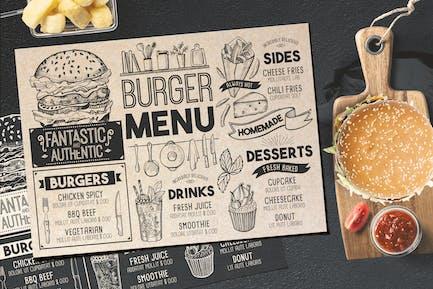 Burger Food Menu Template