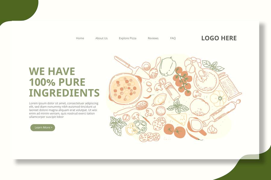 Food Ingredients - Landing Page