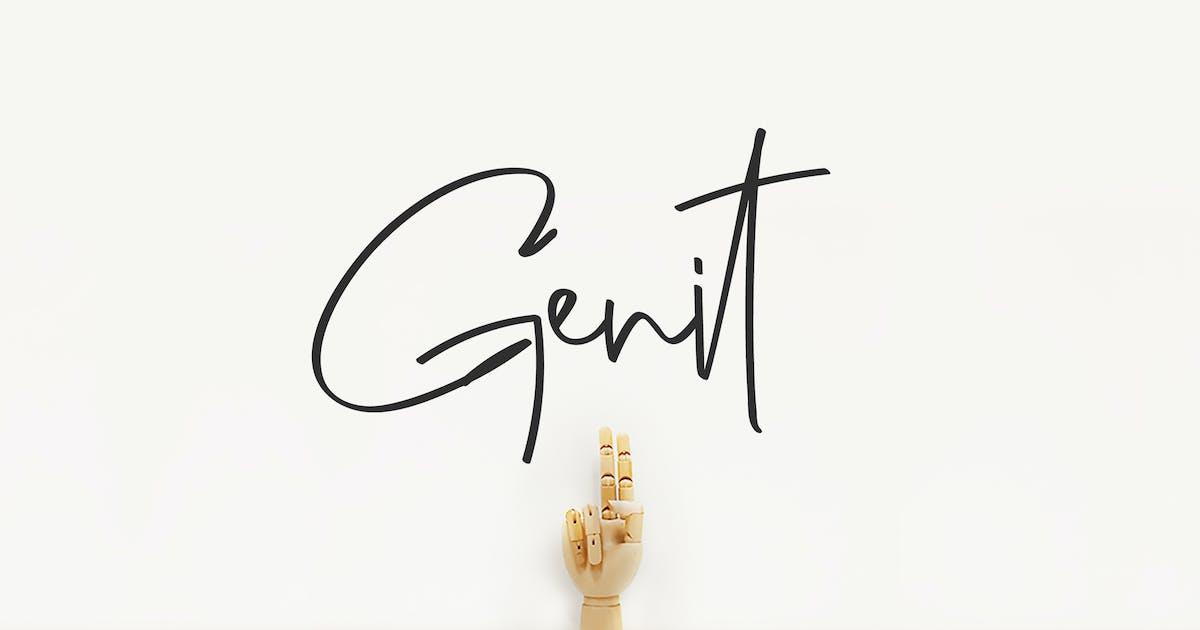 Download Genit - Handwritten Font by Motokiwo