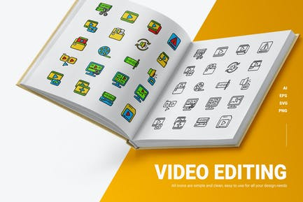 Vidio Editing - Icons