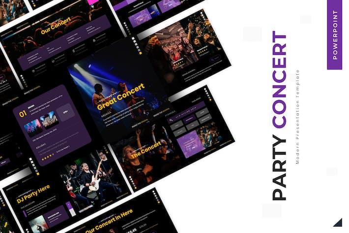 Праздничный концерт - Powerpoint Шаблон