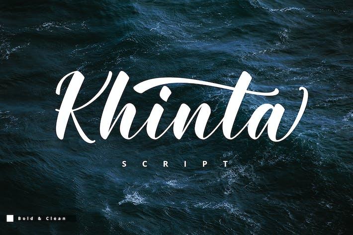 Thumbnail for Khinta Script