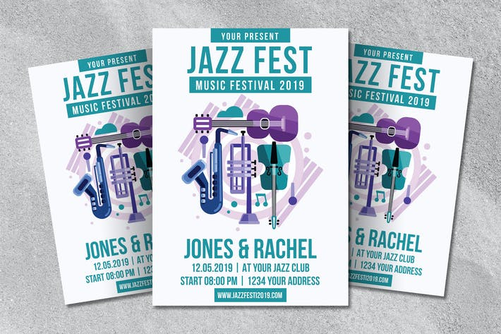 Thumbnail for Jazz Fest Flyer Template