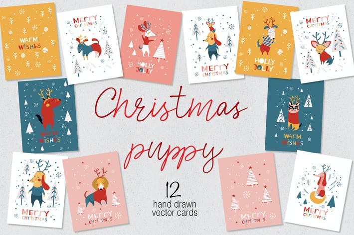 Thumbnail for Christmas Puppy Cards