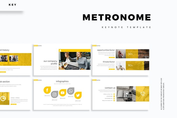 Cover Image For Metronome - Keynote Template
