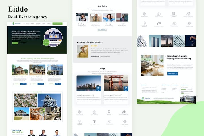 Thumbnail for Eiddo - Real Estate Agency Email Newsletter