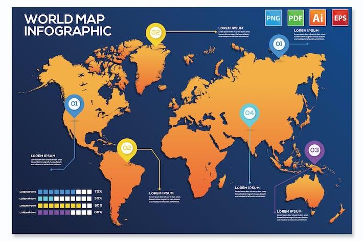 Карта мира Инфографика