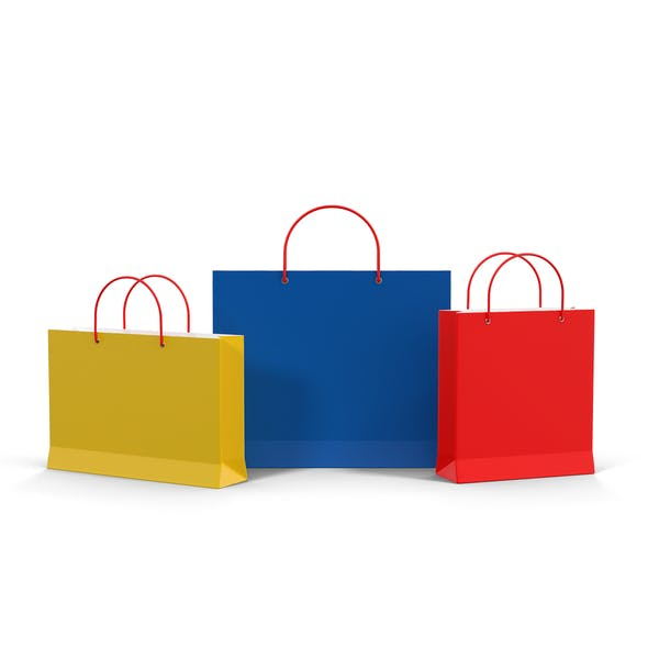 Thumbnail for 3 Color Shopping Bags