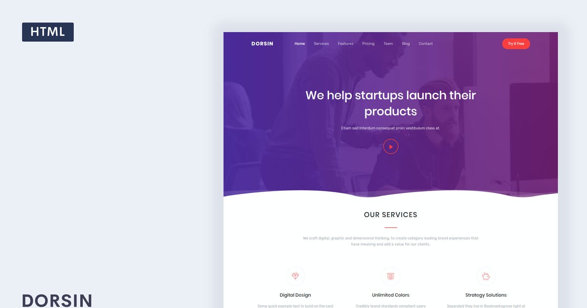 Download Dorsin - Landing Page Template by Themesbrand