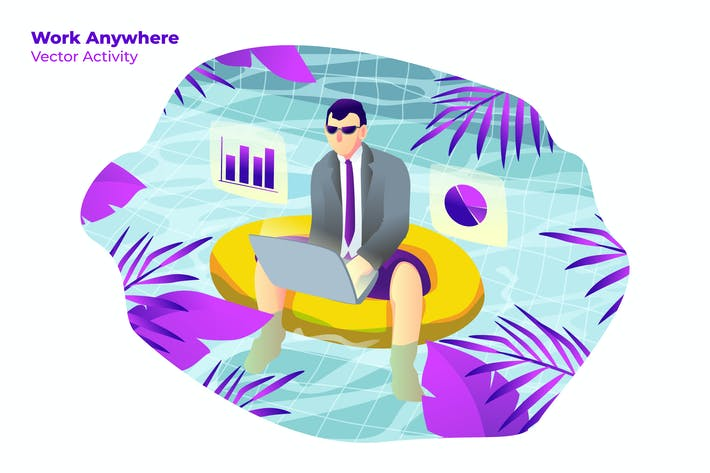Thumbnail for Work Anywhere - Vector Illustration