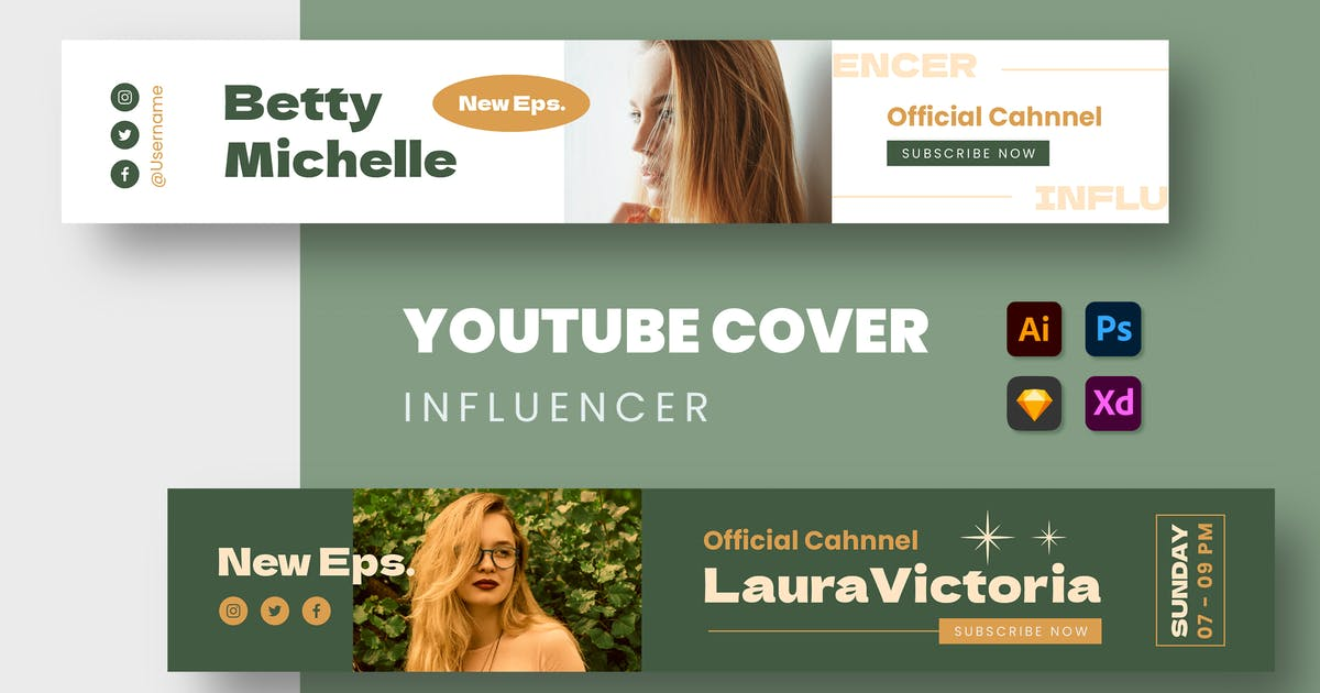 Download Influencer Youtube Cover by mikrotypestd