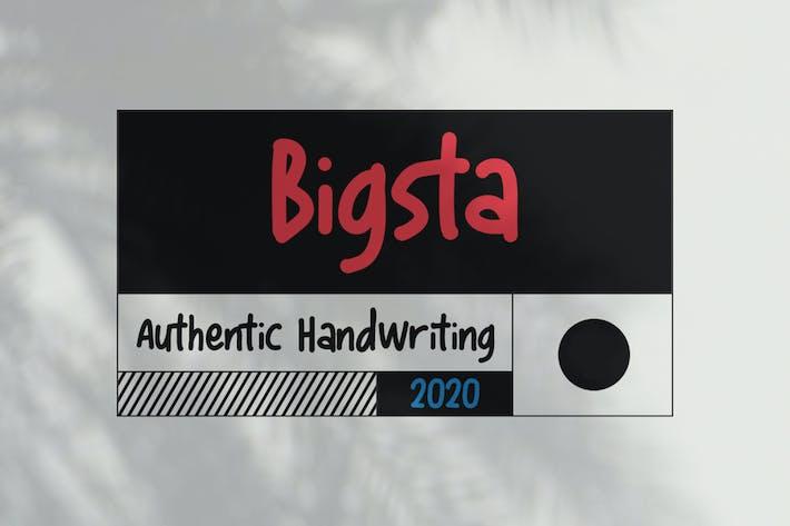 Thumbnail for Bigsta - Handwritten Journal Font