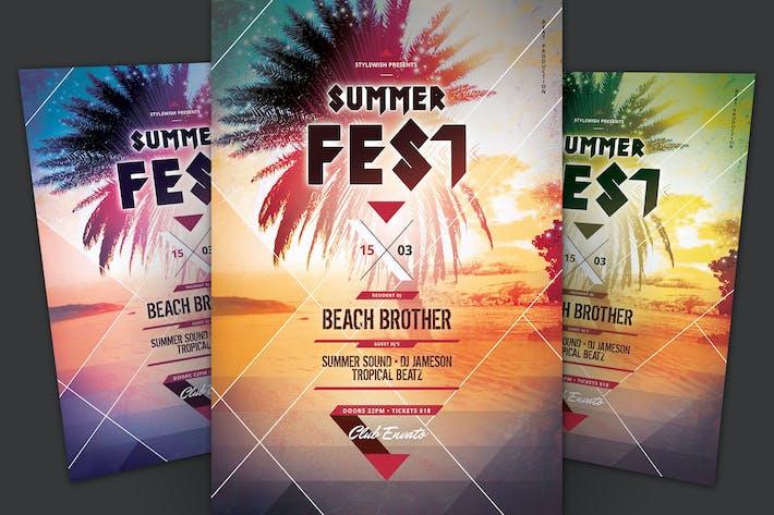Cover Image For Summer Fest Flyer