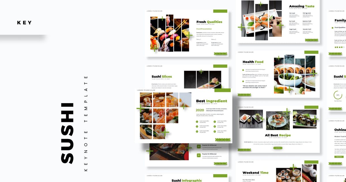 Download Sushi - Keynote Template by aqrstudio