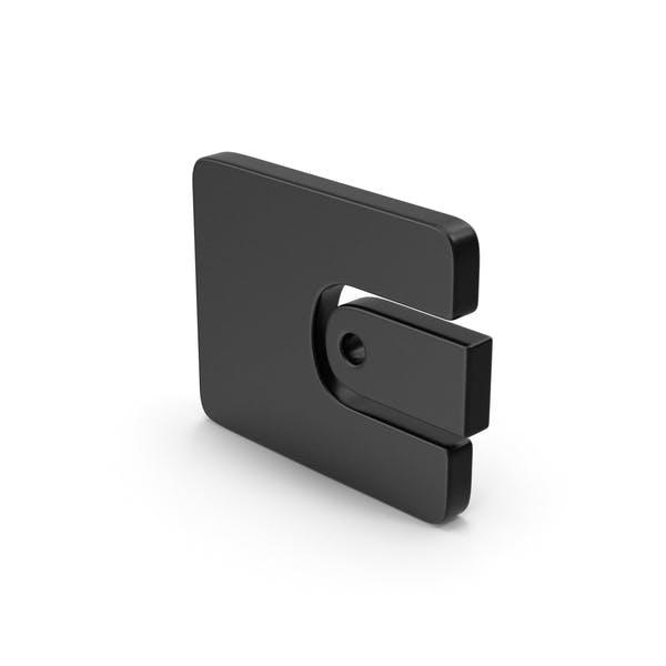 Black Symbol Wallet