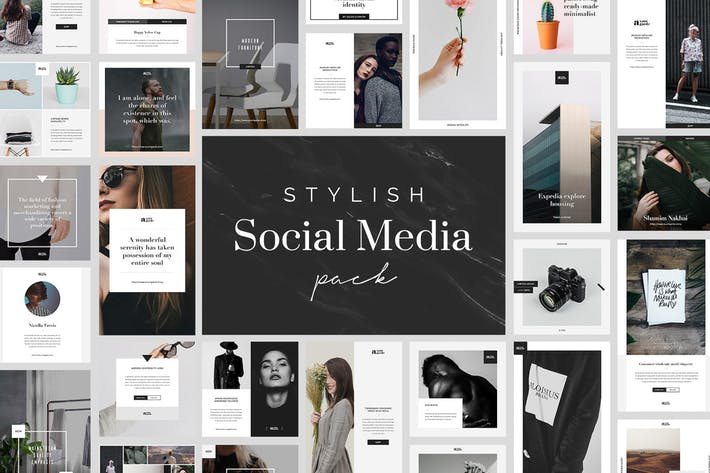 Thumbnail for Stylish Social Media Pack