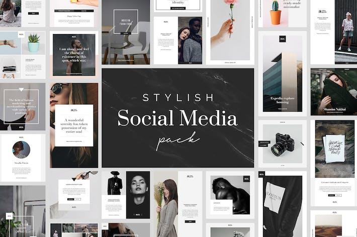 Thumbnail for Pack de médias sociaux élégant