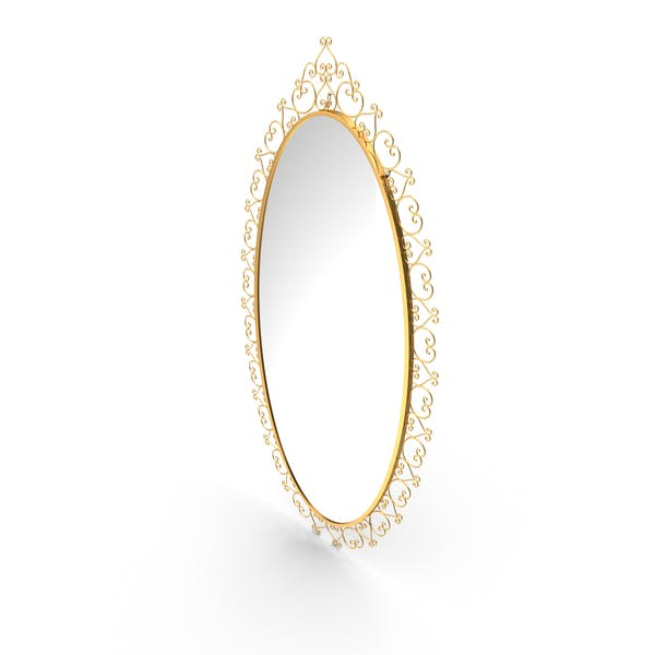 Espejo Oval Dorado