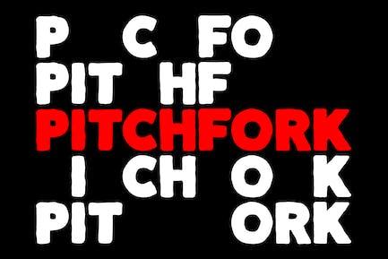 Pitchfork - Powerful Sport Font