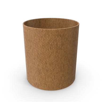 Papierkorb aus Rattan