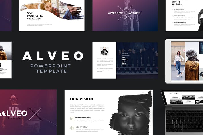 rivka minimal powerpoint template by jetfabrik on envato elements