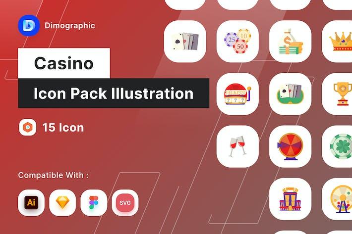 Casino Icon Pack Illustration