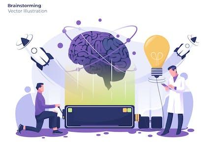 Brainstorming - Vektor illustration