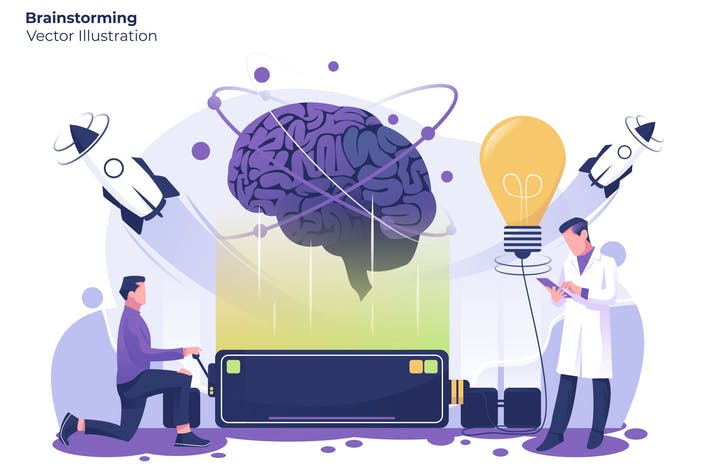 Thumbnail for Brainstorming - Vector Illustration