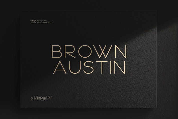 Thumbnail for Brown Austin - Modern Sans Serif Font