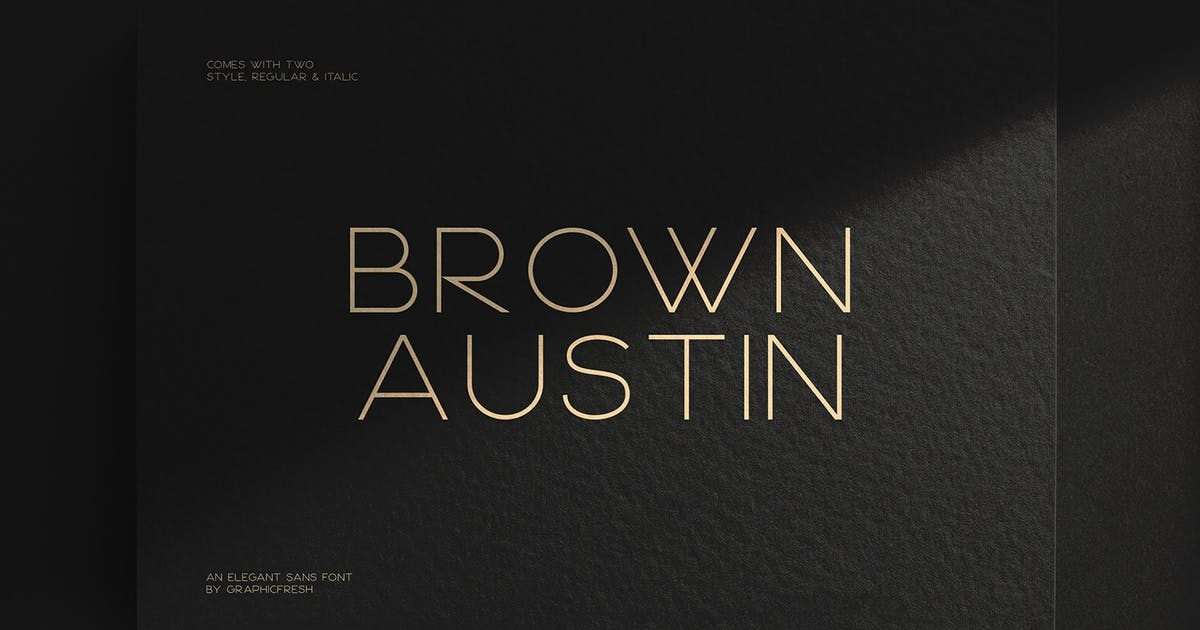 Download Brown Austin - Modern Sans Serif Font by sameehmedia