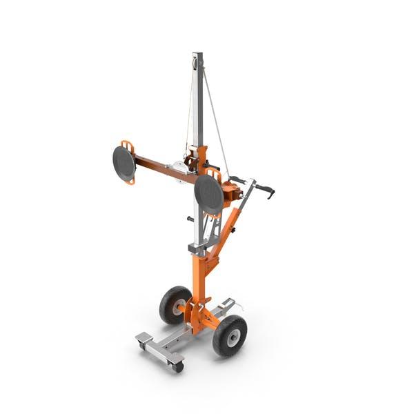 Portable Glass Vacuum Lifting Trolley
