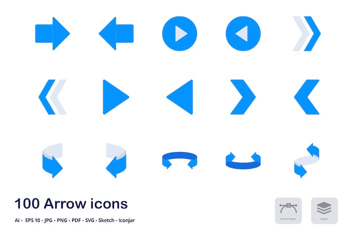 Thumbnail for Arrows and Pointers Accent Duo Tone Flat Icons