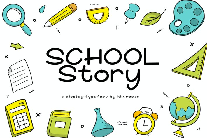 Thumbnail for School Story Font