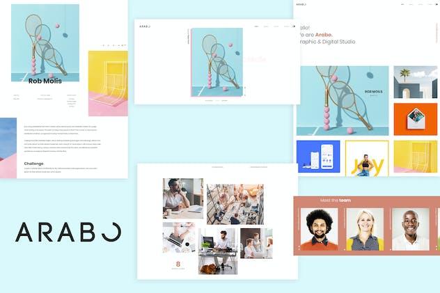 Arabo - Creative Portfolio Template