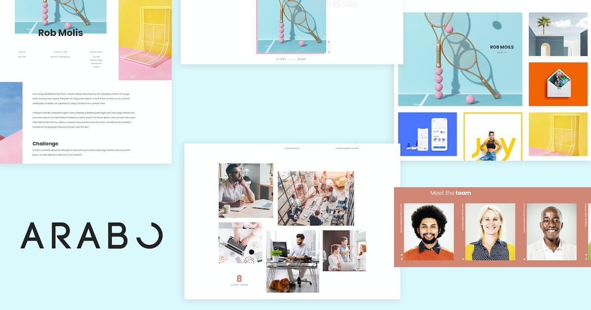 Download Arabo - Creative Portfolio Template by BrighThemes