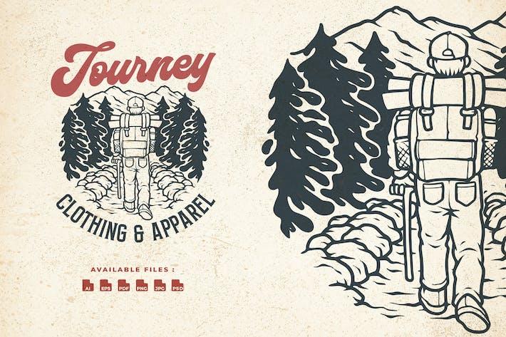 Thumbnail for Journey Climb Hand Drawn Logo