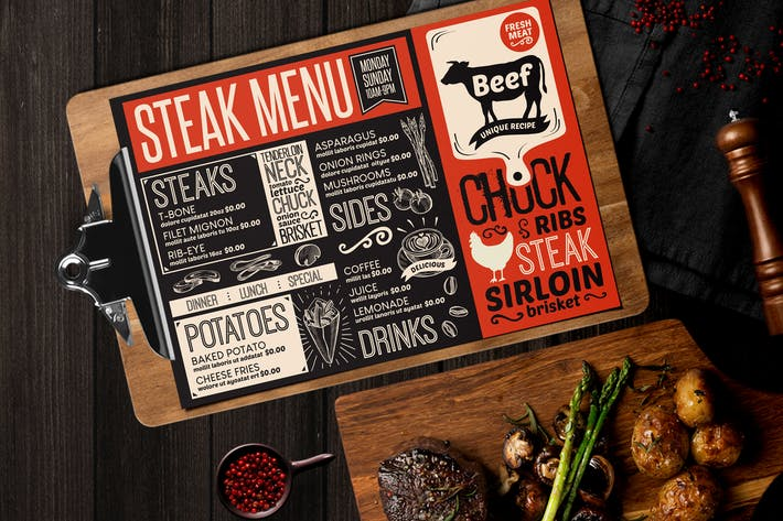 Steak Food Menu