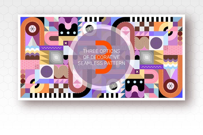 Thumbnail for 3 Seamless Geometric Pattern Designs