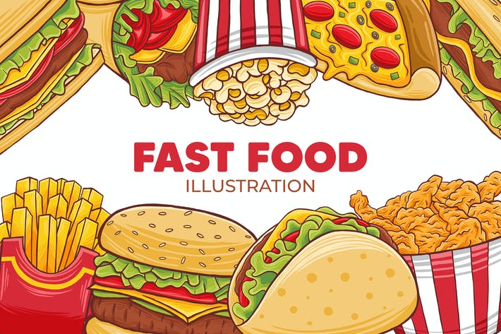 Thumbnail for Fast Food Illustration