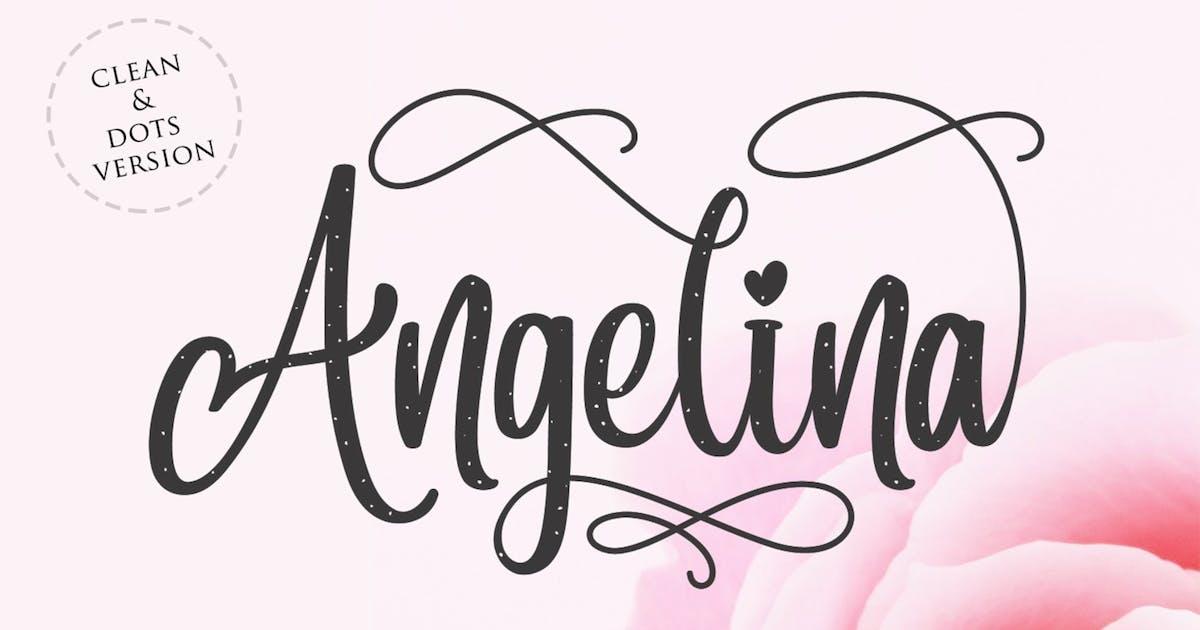 Download Angelina - Beautiful Script Font by Din-Studio