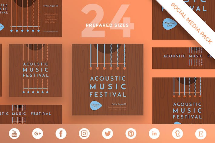 Thumbnail for Music Festival Social Media Pack Template