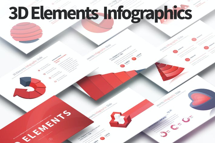 Thumbnail for 3D Elements - PowerPoint Infographics Slides