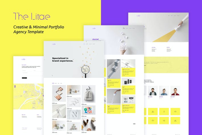 Thumbnail for The Litae - Creative Portfolio / Agency Template