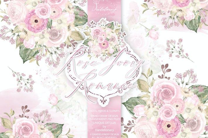 Motiv Rose Elfenbein Romantik
