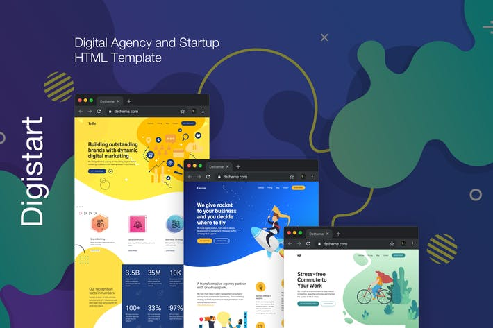 Thumbnail for Digistart - Digital Marketing and Agency Template