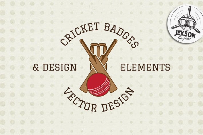 Thumbnail for Sports Cricket Badges / Logo & Design Elements